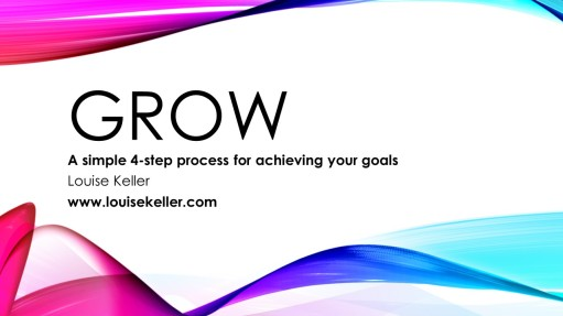 GROW A simple four step process to achieving your goals